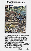 0104579 © Granger - Historical Picture ArchiveCARPENTERS, 1568.   Woodcut, 1568, by Jost Amman.