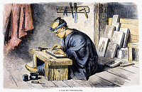 0097800 © Granger - Historical Picture ArchiveWOOD ENGRAVER, 1864.   A Japanese wood engraver. Wood engraver, English, 1864.