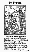 0098620 © Granger - Historical Picture ArchiveMISER AND USURER, 1568.   The money fool, who practices usury and hoards his money. Woodcut, 1568, by Jost Amman.