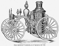 0053350 © Granger - Historical Picture ArchiveFIRE ENGINE, 19th CENTURY.   A steam fire-engine, the 'Washington No. 1' from Brooklyn, New York. Wood engraving, late 19th century.
