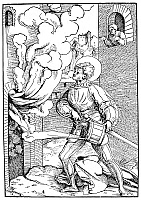 0057705 © Granger - Historical Picture ArchiveFIRE, 16TH CENTURY.   Saint Florian, patron saint of firefighters. German woodcut, c1516, by Hans Schaufelein.