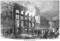 0064224 © Granger - Historical Picture ArchiveFIREFIGHTING: LONDON, 1866.   Wood engraving, English, 1866.