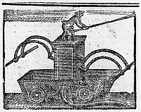 0125694 © Granger - Historical Picture ArchiveFIRE ENGINE, 1769.   Fire engine used in Pennsylvania. Wood engraving from the 'Pennyslvania Chronicle,' 6 November 1769.