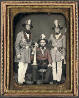 0265885 © Granger - Historical Picture ArchiveFIREMEN, c1855.   Firemen of the Phoenix Fire Company and Mechanic Fire Company from Charleston, South Carolina. Daguerreotype, c1855.