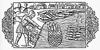 0067257 © Granger - Historical Picture ArchiveHERRING FISHING, 1555.   Landing herring in Scandianvian waters. Woodcut from Olaus Magnus' 'Historia de Gentibus Septentrionalibus,' 1555.