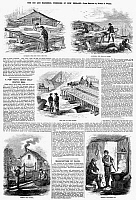 0088196 © Granger - Historical Picture ArchiveNEW ENGLAND: FISHING, 1865.   'The Cod and Mackerel Fisheries of New England.' Wood engravings from an American newspaper of 1865.