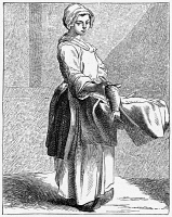 0354285 © Granger - Historical Picture ArchiveFRANCE: FISHMONGER, c1740.   A Parisian fishmonger. Engraving, 1875, after an etching by Edmé Bouchardon, c1740.