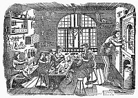 0095781 © Granger - Historical Picture ArchiveJEWELER'S WORKSHOP, c1500.   Line engraving, 19th century.