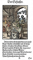 0075486 © Granger - Historical Picture ArchiveLOCKSMITH, 1568.   Woodcut, 1568, by Jost Amman.