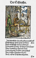 0104574 © Granger - Historical Picture ArchiveGRINDER, 1568.   Woodcut, 1568, by Jost Amman.