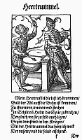 0098619 © Granger - Historical Picture ArchiveKETTLE DRUMMER, 1568.   Woodcut, 1568, by Jost Amman.