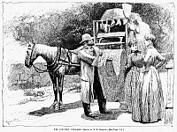 0056530 © Granger - Historical Picture ArchivePEDDLER, 1889.   'The Country Peddler.' Drawing, 1889, by Edward Windsor Kemble (1861-1933).