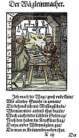 0075487 © Granger - Historical Picture ArchiveSCALE MAKER, 1568.   Woodcut, 1568, by Jost Amman.