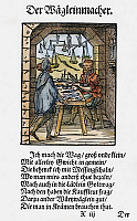 0104596 © Granger - Historical Picture ArchiveSCALE MAKER, 1568.   Woodcut, 1568, by Jost Amman.