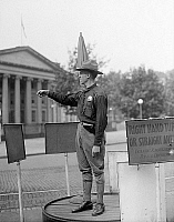 0118747 © Granger - Historical Picture ArchiveTRAFFIC COP, 1918.   Army officer directing traffic at the U.S. Treasury Department, Washington, D.C. Photographed in 1918.