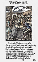 0075159 © Granger - Historical Picture ArchiveSTONEMASONS, 1568.   Woodcut, 1568, by Jost Amman.