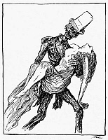 0042277 © Granger - Historical Picture ArchiveKUBIN: GHOST AT THE BALL.   The Ghost at the Ball. Drawing, 1918, for 'The Dance of Death' by Alfred Kubin (1877-1959).