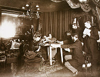 0118602 © Granger - Historical Picture ArchivePARIS: SÉANCE, 1898.   'Séance with Eusapia Palladino at the home of Camille Flammarion, Rue Cassini.' Photograph by H. Mairet, 25 November 1898.