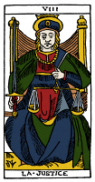 0527877 © Granger - Historical Picture ArchiveTAROT CARD: JUSTICE.   'Justice'. Woodcut, French, 16th century.