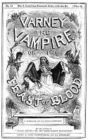 0014379 © Granger - Historical Picture ArchiveVARNEY THE VAMPIRE, 1853.   Wrapper of the first number of Thomas Pecket Prest's 'Varney the Vampire,' published at London in 1853.