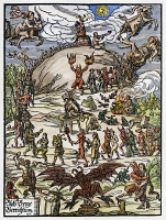 0047401 © Granger - Historical Picture ArchiveWALPURGIS NIGHT   on the Blocksberg, Germany. Woodcut, Leipzig, 1669.