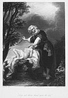 0054360 © Granger - Historical Picture ArchiveABRAHAM SACRIFICING ISAAC.   Steel engraving after John Singleton Copley.