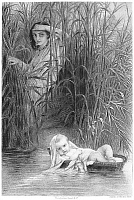 0059839 © Granger - Historical Picture ArchiveMOSES IN THE BULLRUSHES.   After the painting by Paul Delaroche.