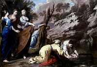 0019907 © Granger - Historical Picture ArchiveTHE FINDING OF MOSES.   Oil on canvas, attributed to Antonio De Bellis, c1650. RESTRICTED OUTSIDE US.