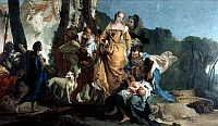 0020225 © Granger - Historical Picture ArchiveTHE FINDING OF MOSES.   Oil on canvas, c1730-35, by Giovanni Battista Tiepolo. Canvas. RESTRICTED OUTSIDE US.