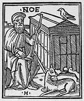 0323316 © Granger - Historical Picture ArchiveNOAH.   Noah and the Ark. Woodcut from Giacomo Filippo Foresti's 'Supplementum Chronicarum,' 1524.