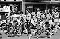 0126181 © Granger - Historical Picture ArchiveGAY RIGHTS MARCH, 1976.   Gay rights demonstration during the Democratic National Convention in New York City, 11 July 1976. Photographed by Warren K. Leffler.