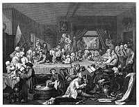 0077630 © Granger - Historical Picture ArchiveHOGARTH: ELECTION.   'Humours of an Election Entertainment.' Steel engraving, c1860, after the original by William Hogarth (1697-1764).