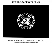 0034589 © Granger - Historical Picture ArchiveUNITED NATIONS: FLAG.   Adopted by the General Assembly 20 October 1947.