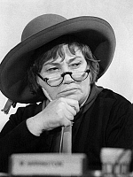 0168825 © Granger - Historical Picture ArchiveBELLA ABZUG (1920-1998).   Née Savitsky. American lawyer, politician, and social activist. Photographed at a congressional hearing, 5 March 1975.