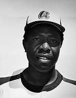 0169888 © Granger - Historical Picture ArchiveHANK AARON (1934- ).   American baseball player. Photographed during spring training as a member of the Atlanta Braves, March 1972.