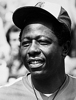 0169889 © Granger - Historical Picture ArchiveHANK AARON (1934- ).   American baseball player. As a member of the Atlanta Braves, photographed during a game against the New York Mets at Shea Stadium in Queens, New York City, 1 September 1974.