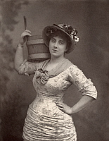 0322516 © Granger - Historical Picture ArchiveLEONORA BRAHAM (1853-1931).   English opera singer, in the title role of Gilbert and Sullivan's comic opera, 'Patience,' 1881. Photograph.