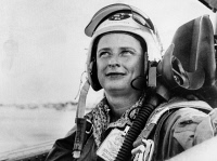 0621702 © Granger - Historical Picture ArchiveJERRIE COBB (1931- ).   American aviator. Photographed in US Air Force flight gear, 1960.