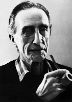 0170131 © Granger - Historical Picture ArchiveMARCEL DUCHAMP (1887-1968).   French artist. Photographed by John D. Schiff, late 1950s.