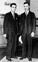 0621841 © Granger - Historical Picture ArchiveJACK 'LEGS' DIAMOND   (1897-1931). Irish American gangster. With Daniel H. Prior. Photograph, 1931.
