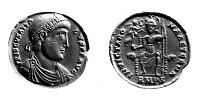 0058104 © Granger - Historical Picture ArchiveFLAVIUS PRISCUS ATTALUS   (d. after 416). Emperor of Rome, 409-410. Contemporary Roman silver medallion.