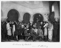0265036 © Granger - Historical Picture ArchiveSERMON BY ABELARD.   'A Sermon by Abelard,' Photogravure, 1881, after a painting by A. Steinheil.