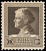 0114002 © Granger - Historical Picture ArchiveJANE ADDAMS (1860-1935).   American social worker and cofounder of Hull House in Chicago. U.S. commemorative postage stamp, 1940.