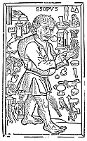 0043650 © Granger - Historical Picture ArchiveAESOP (c620-560).   Reputed Greek fabulist. Woodcut, German, 1498.