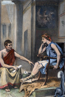 0065196 © Granger - Historical Picture ArchiveALEXANDER & ARISTOTLE.   Aristotle (384-322 B.C.) tutoring Alexander the Great (356-323 B.C.), c342-335 B.C. After a painting, c1895, by Jean Leon Gerome Ferris.