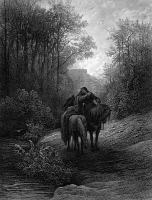 0035734 © Granger - Historical Picture ArchiveTENNYSON: GUINEVERE.   'The Idylls of the King.' The Parting of Lancelot and Guinevere. Steel engraving, 1867, after Gustave Doré.