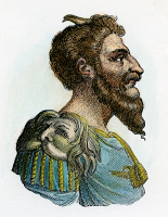 0010890 © Granger - Historical Picture ArchiveATTILA, KING OF THE HUNS   (406?-453): traditional colored engraving.
