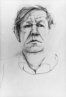 0020538 © Granger - Historical Picture ArchiveWYSTAN H. AUDEN (1907-1973).   Pen and ink drawing, 1967, by Don Bachardy.