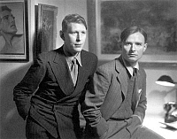 0037742 © Granger - Historical Picture ArchiveAUDEN & ISHERWOOD.  Wystan Hugh Auden (1907-1973) and Christopher Isherwood (1904-1986). English writers.