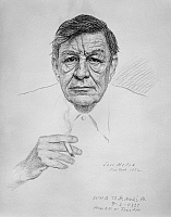 0115142 © Granger - Historical Picture ArchiveWYSTAN HUGH AUDEN   (1907-1973). English poet. Charcoal on paper, 1972, by Soss Melik.
